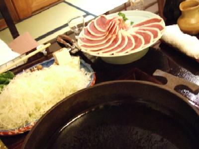 鴨鍋肉ほか