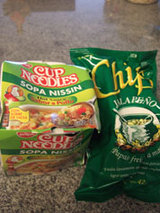 noodle and chips