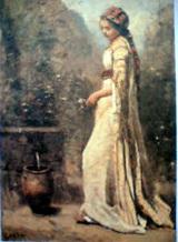 コロー 泉水のわきにたたずむギリシア娘