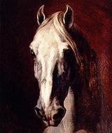 ジェリコー 白馬の頭部