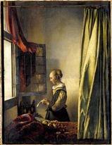 フェルメール 窓辺で手紙を読む若い女