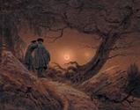 フリードリヒ 月を眺める二人の男