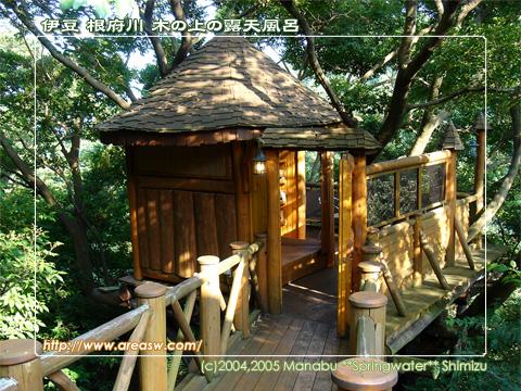 伊豆 根府川 木の上の露天風呂