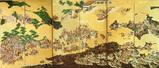 「一ノ谷合戦・二度之懸図屏風」(岐阜博物館蔵)