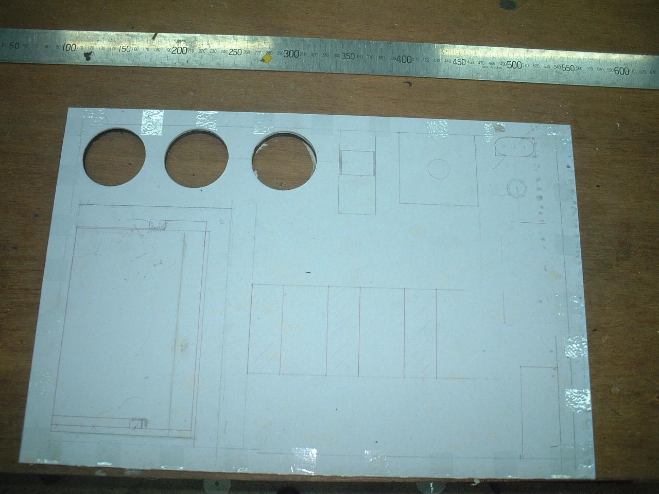 カリビアン28電気パネル作業工程1