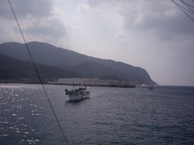 中ノ島出港