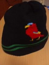鳥ニット帽