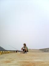 平岡、釣り初体験