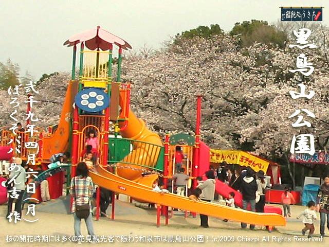 4/6(月)【黒鳥山公園】桜の開花時期には多くの花見観光客で賑わう和泉市は黒鳥山公園の桜! @キャツピ&めん吉の【ぼろくそパパの独り言】      ▼クリックで元の画像が拡大します。
