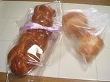 最後のパン:編みパンとロールパン