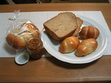 ロールパンとバターロールとゆずジャム