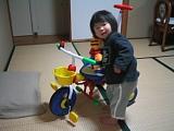 サナエと三輪車