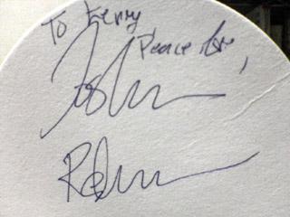 ジョシュアのサイン