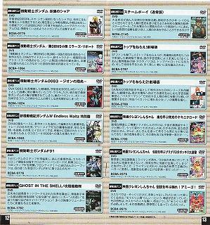 バンダイビジュアル株主優待カタログ中身