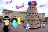 バッキンガム宮殿の天井より高いケーキ