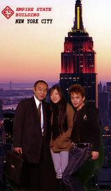 摩天楼、右から諸星さんと通訳のベティーナ、福崎会長
