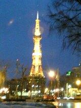 テレビ塔夜