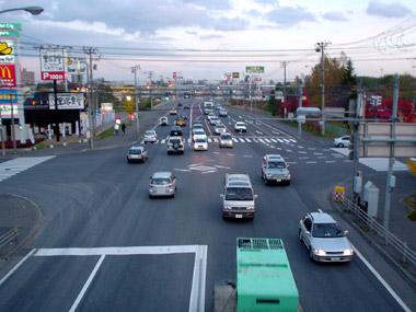 国道36号 里塚付近