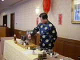 柚子プーアール茶を入れる