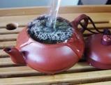 茶壺でいれる