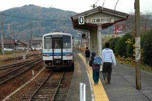三次駅0番線