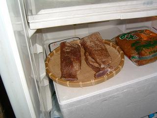 冷蔵庫で乾燥させる