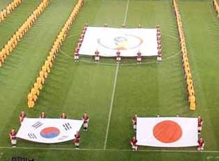 2002日韓W杯開会式での韓国にバカにされた日の丸