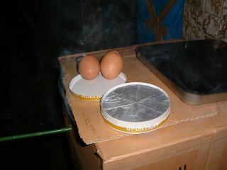 ゆで卵と6Pチーズ