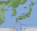 2006.08.17午後8時現在の台風天気図