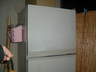 野外の冷蔵庫