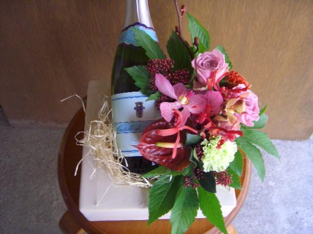 ワインとお花のギフト