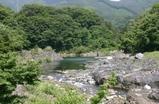 わたらせ渓谷鉄道の沿線の風景 水沼(上流)