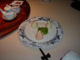 お祝いの桃のお菓子