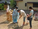 日岡神社の神主さんにお願いしました。