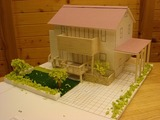 H邸の完成模型。