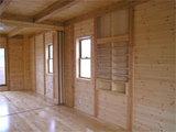 2階洋室壁に梁までの本棚収納?