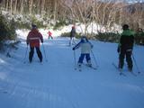 スキーをする息子2