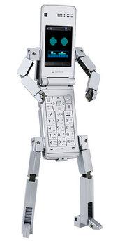 ロボットに変形するケータイ815T PB_sv