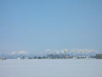 つり雪景色