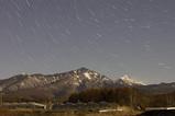 月光に輝く八ヶ岳