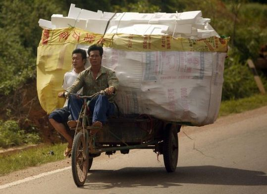 several_ways_to_transport_garbage_in_china_07