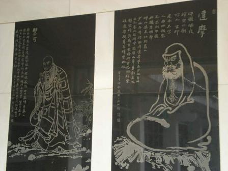達磨の壁画