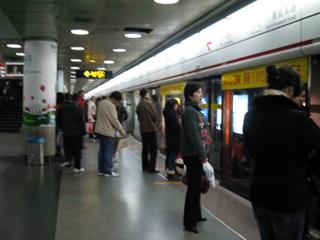 上海の地下鉄-南京路 新天地への外出
