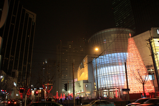 中国・上海のクリスマス飾り、イルミネーション
