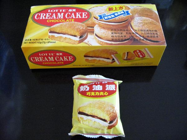 中国ロッテ楽天(乐天)のクリームケーキを食す!