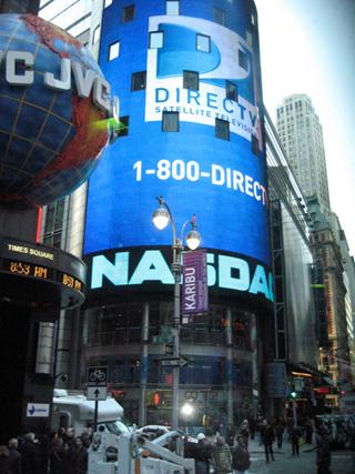 ニューヨークのタイムズスクエアの年越しカウントダウン