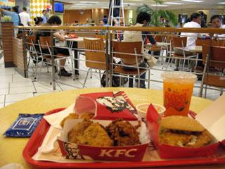 中国・上海・浦東国際空港内「KFC(肯徳基)」ケンタッキーフライドチキン