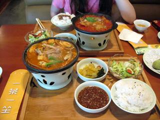 中国・上海の五角場の一茶一坐(CHAMATE)でランチを食す!
