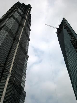 上海のグランドハイアットホテルの入居する金茂大厦・金茂タワー