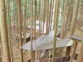 辰巳屋山荘 里の湯 山林の中の温泉